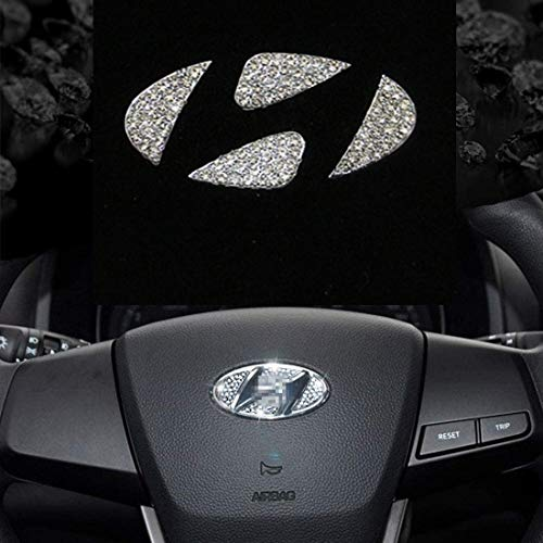 SummerPlus Bling Bling Car Steering Wheel Decorative Diamond Sticker Compatible with Hyundai Sonata...