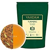 Té de Chai de la especia de la cúrcuma (100 tazas)| infusiones para adelgazar | La mezcla antigua de la medicina de la India de la cúrcuma y las especias frescas del jardín, cúrcuma, Tisana, 200 g