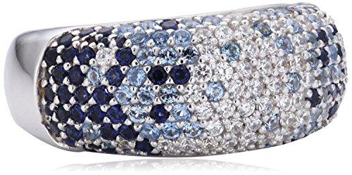 Joop Damen-Ring 925 Sterling Silber rhodiniert Kristall Zirkonia Scarlett blue mehrfarbig Gr.55 (17.5) JPRG90533H550