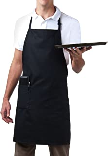 MHF Aprons-2 Piece Pack-3 Pockets and Fully Adjustable Neck Bib Apron
