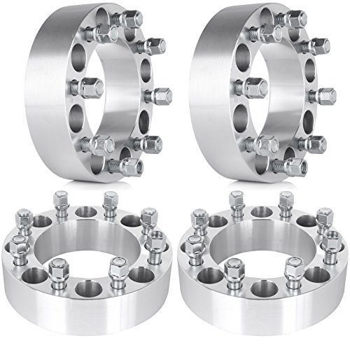 "SCITOO 8x6.5 Wheel Spacers Adapter 8 Lug 8x6.5 to 8x6.5 4X 2 50mm 8x6.5 8x165.1mm 9/16"" Studs fits for Dodge Ram 3500 Ram 2500 Ford F-350 F-250"