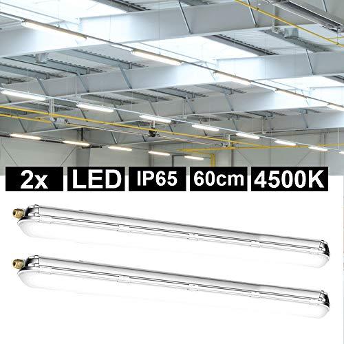 2x LED Decken Lampen Röhren Wannen Feuchtraum Leuchten Werkstatt Lager Hallen Strahler Garage Keller Industrie Lager-Halle Nassraum