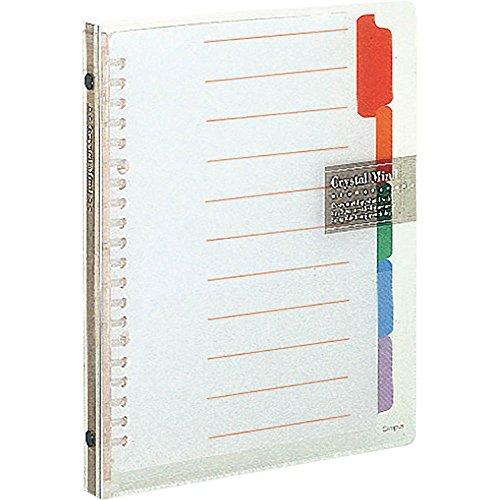 Kokuyo slide binder Crystal Mind slim A5 transparent Le-P130T (japan import)