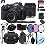 Canon EOS R6 Mirrorless Digital Camera with 24-105mm f/4-7.1 Lens Bundle + 128GB Memory + Case + Filters + Tripod (24pc Bundle)