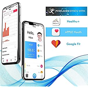 [Latest 2020] Bluetooth Bathroom Digital Body Fat Weight Scale, Smart Wireless BMI Weighing Scales, Tracks Body Composition Analyzer Scale with Smartphone App for Water, BMI, BMR, Muscle Mass(400 lbs)