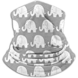 Linger In Jumbo Elephant On Grey Neck Warmer Bufanda Polaina Mascarilla Bandanas...