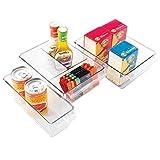 mDesign 3-teiliges Aufbewahrungsbox-Set – ideal zur Küchen Ablage, im...
