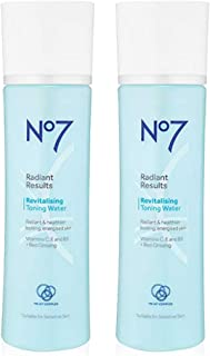 Boots No7 Radiant Results Revitalizing Toning Water, 7fl oz (TWO - PACK)