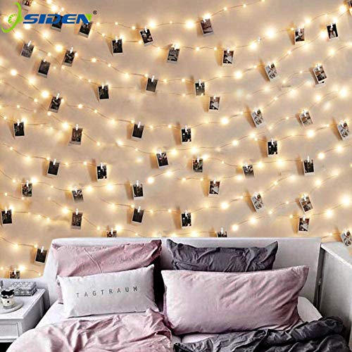yuge Led String Lights 2m/5m/10m Photo Clip Fairy Lights Outdoor Battery Operated Garland Christmas Decoration Party Wedding Xmas White