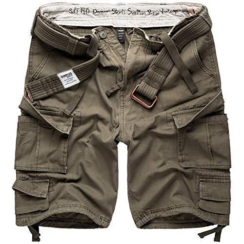 Surplus Division Herren Cargo Shorts, oliv, M