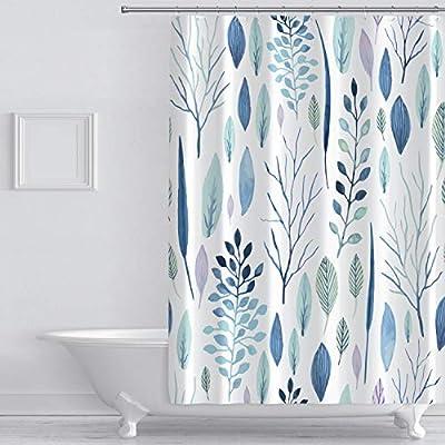 wtisan Floral Shower Curtain,Tropical Shower Cu...