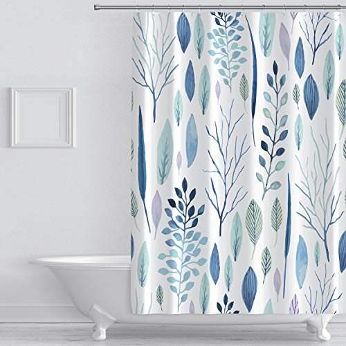wtisan Floral Shower Curtain,Tropical Shower...