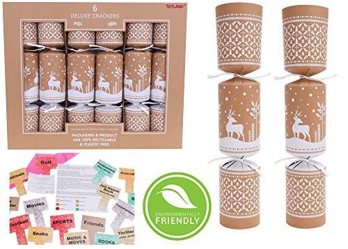 Toyland® Pack Of 6 Eco Friendly Reindeer...