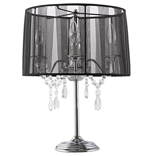 Lampe à poser baroque ROCOCO noire