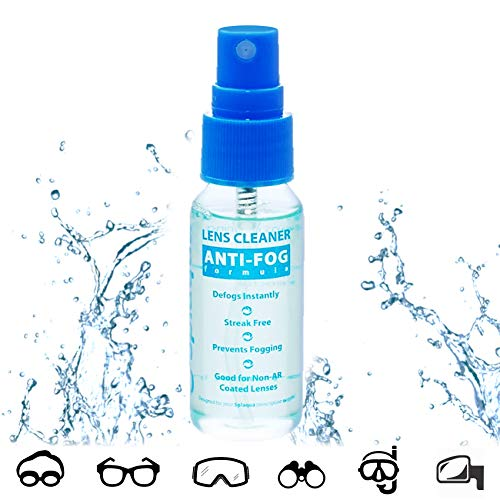 Anti Fog Spray Eyeglass Lens Cleaner, Long Lasting Defogger For Glasses, Goggles, Ski Masks Mirrors and Windows (1 Pack)