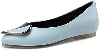 Nine Seven Women's Leather Pointtoe Flatheel Flats