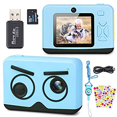 Upgrade Kids Camera, Belita Amy Digital Video Camcorder with Dual Lens 1080P 2.4 Inch HD, Birthday Christmas Children Electronic Camera for Age 3-12 Years Old Girls Boys with 32G Micro SD Card from Belita Amy
