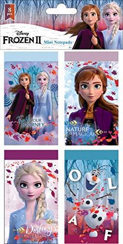 8x Mini Notizbuch, kompatibel zu Disney Frozen 2 Die Eiskönigin | Geschenk für Mädchen | Anna und Elsa | My Destinys Calling | Schreibblock | 8er Set