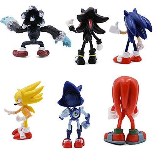 PARK AVE 6 Sonic Hedgehog Figures with Jumbo Egg Storage, 1.5-2.5