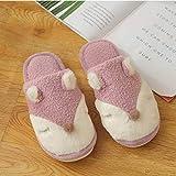 ZapatillascasaZapatillas Cálidas De Invierno para Mujer, Zapatillas De Felpa para Pareja, Zapatillas De Interior Suaves Y Encantadoras, Zapatos De Dormitorio Antidesliz