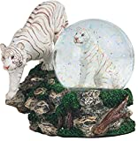 StealStreet SS-G-28052 Two White Tigers Snow Globe, 4.25