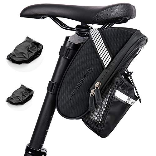Komake Bolsa de Sillín de Bicicleta, Bicicleta Impermeable Bolsa Con Luz Trasera Alforja Asiento de Bicicleta Puede Sostener Una Tetera Adecuado para Bicicletas de Montaña y Bicicletas