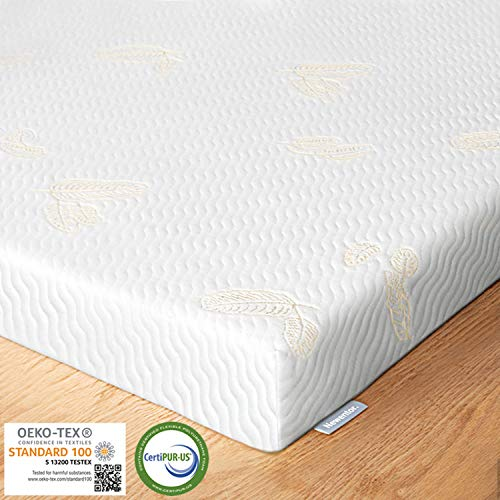 mächtig der welt Newentor® Gel Foam Topper 7 cm 180 x 200 cm Bisco Topper 2-in-1-Matratzenauflage, Memory Gel Topper…