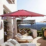 Parasol Jardin Sombrillas Terraza Playa Sombrillas de patio de montaje en pared,...