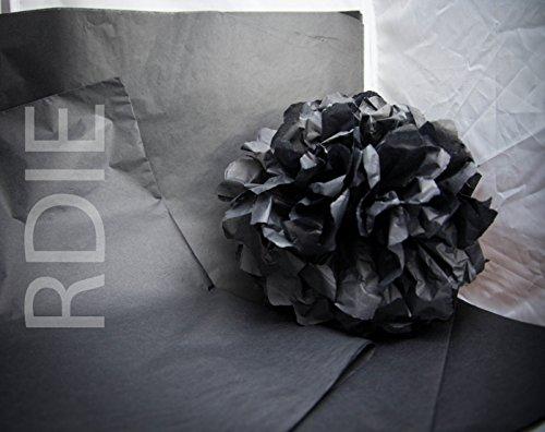24Blatt Seidenpapier Packseide, schwarze, Format 37cm x 50cm, 18GRS