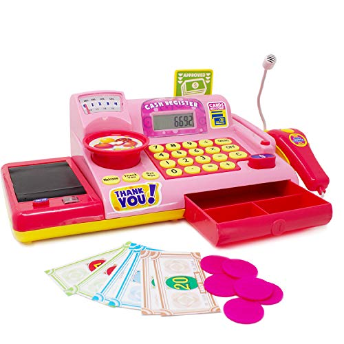 Boley Pink Toy Cash Register Playset -...