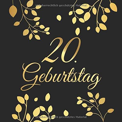 20. Geburtstag: 20 Jahre Gästebuch Edel Vintage Album Buch - Geschenkidee Zum Eintragen und zum...