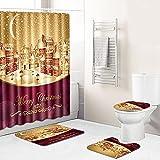 Duschvorhang Goldene Fuchsien Stadt Shower Curtains Polyester Waschbar Shower Curtain Wasserdicht Duschvorhänge Schimmelsicher Mit 12 Kunststoffhaken Duschvorhang 180x180