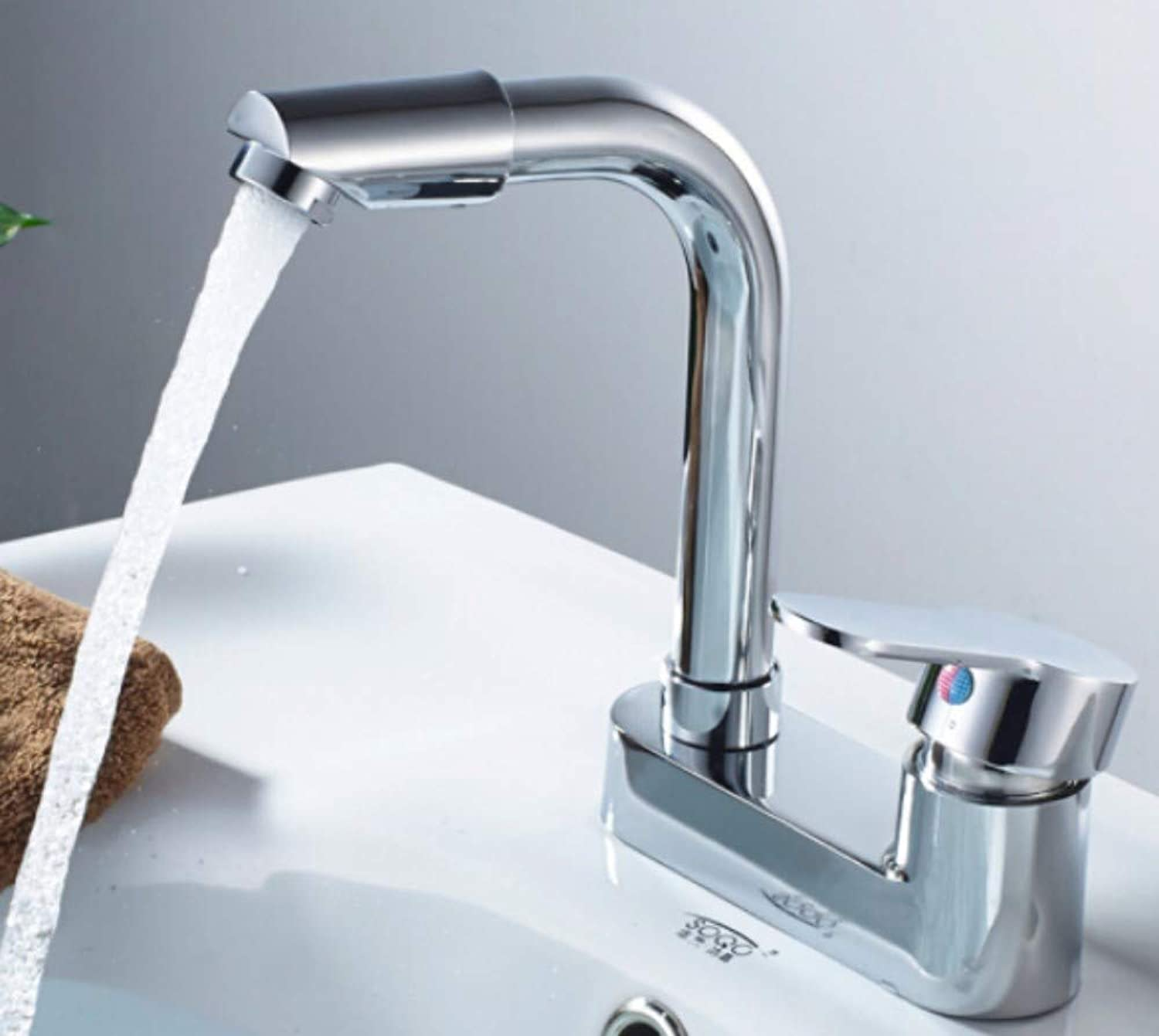 Faucet Waste Mono Spouthot and Cold Water Bath Alloy Basin Faucet Bathroom Basin Faucet