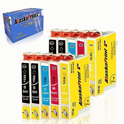 Alaskaprint 10 Druckerpatronen Ersatz für Epson 16 16XL multipack für Epson Workforce WF-2010 WF-2510 WF-2520 WF-2530 WF-2540 WF-2630 WF-2650 WF-2660 WF-2750 WF-2760