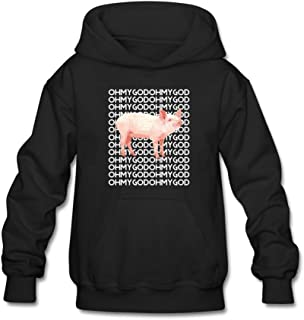 Shane Dawson Oh My God Pig Pullover Hoodie Graphic Sweatshirt for 10-15 Yrs Boys and Girls