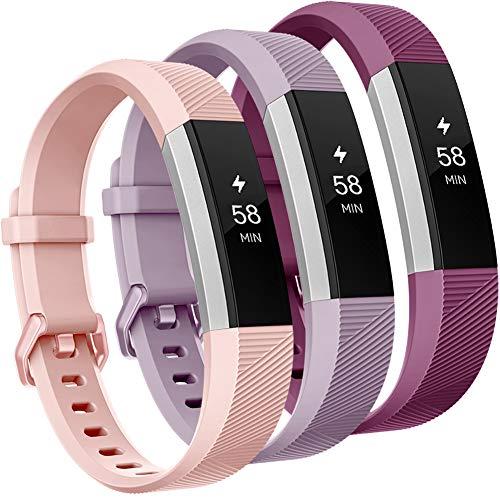 Onedream Compatibile per Fitbit Alta HR Cinturini/Alta Cinturino/Ace Bracciale Braccialetto Sport Rosa Viola Fucsia (nessun Tracker),S
