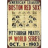 YASMINE HANCOCK Boston Red Sox Metall Plaque Zinn Logo