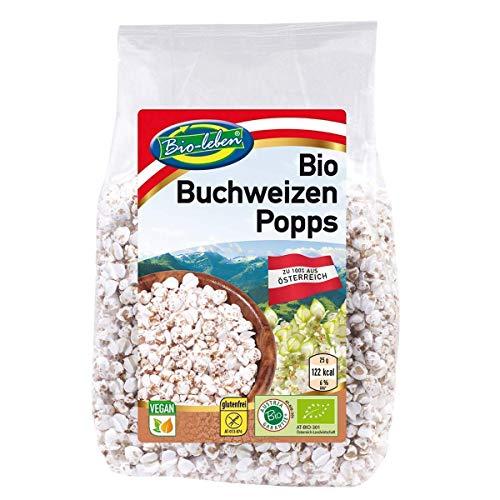 Bio Buchweizen gepufft 720 Gramm 0,72 kg gentechnikfreie Vollkorn Popps, Buchweizen Pops extra gereinigt aus Österreich 8x90g