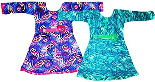 TOUCH UP FASHION Baby Girl s Dress Dresses Frock Skirt 2 3 Years Combo Pack of Two 25a Blue Green l l