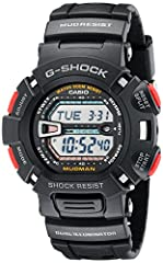 Case Size: 46 mm;Band length:8.5 Inches Countdown timer -start time setting range: 1 minute to 24 hours (1-minute increments and 1-hour increments), Auto-repeat, progress beeper, Four Multi-function alarms & 1 snooze alarm, Hourly time signal, Full a...