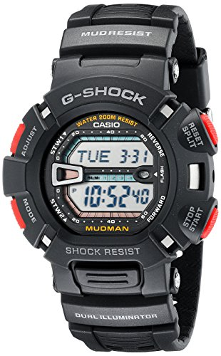 Casio G-Shock Quartz Watch with Resin Strap, Black (Model: G9000-1V)