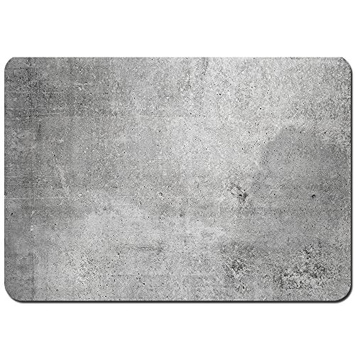 Antidérapant Tapis de Bain,Texture Vieux Fond de Mur de béton Gris,Sol de Salle de Bain Absorbant en et Lavable 75x45cm
