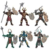 HAPTIME Knight Action Figure with Weapon Accessories/ Knight Figure Playset for Boys Girls Children Kids 3 4 5 6 7 8 9 Years Old, Great as Christmas,Birthday, Set of 6