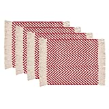 Now Designs Harris Placemats, Set of Four, Red