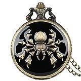 Orologio da Taschino al Quarzo a Tema retrò The Legend of Zelda Orologio da Taschino con Motivo Ragno Scorpione Orologio con Catena in Bronzo retrò, Motivo a Ragn