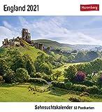 Sehnsuchtskalender England - Kalender 2021 - Harenberg-Verlag - Postkartenkalender mit 53 heraustrennbaren Postkarten - 15,8 cm x 18 cm