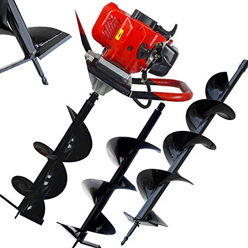 """ECO LLC 52cc 2.4HP Gas Powered Post Hole Digger with TWO Earth Auger Drill Bits 6"""" & 10"""" Inch"""