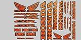 ! -Set DE 27 Pegatinas para Moto Honda 1000 RR, Color Naranja Fluorescente y Contorno Negro