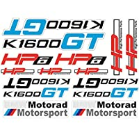 PSLER® オートバイ 反射ステッカー 装飾 ヘルメット&燃料タンク 防水ロゴデカール 対応車種 BMW K1600GT (レッド)
