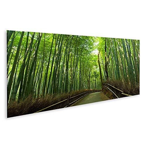 Bild Bilder auf Leinwand Berühmter Bambushain bei Arashiyama Kyoto Japan Wandbild Poster Leinwandbild QAVY